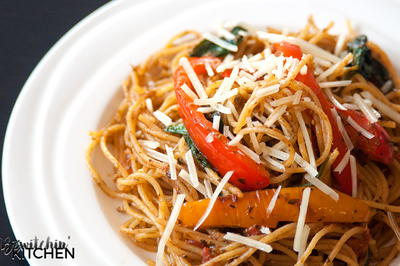 Tomato Pesto Spaghettini