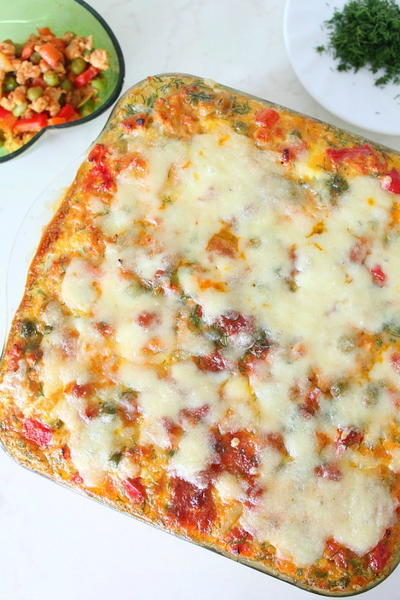 Hash Brown Lasagna with Vegetable and Chicken