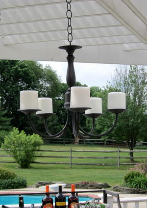 Outdoor Candle Chandelier