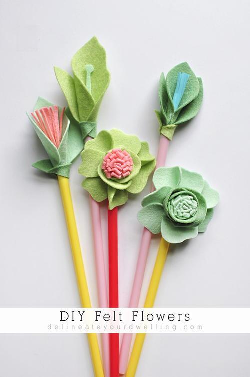 April Showers Bring Felt Flowers | AllFreeHolidayCrafts.com