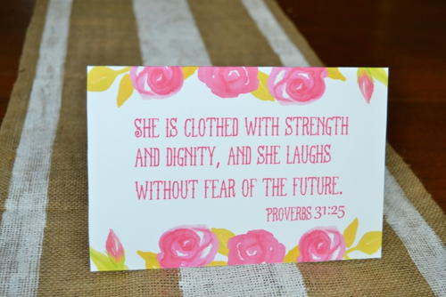 Printable Proverbs Mother's Day Card