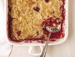 Strawberry-Rhubarb Dump Cake