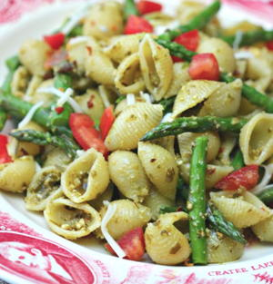 Pesto Pasta With Asparagus Recipe