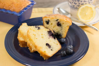 Kentucky Butter Cake with Blueberries