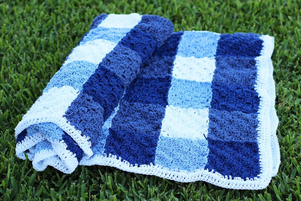 Crochet Gingham Picnic Blanket Afghan Allfreecrochetcom