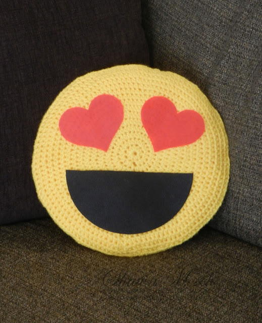 Emoji Crochet Pillow