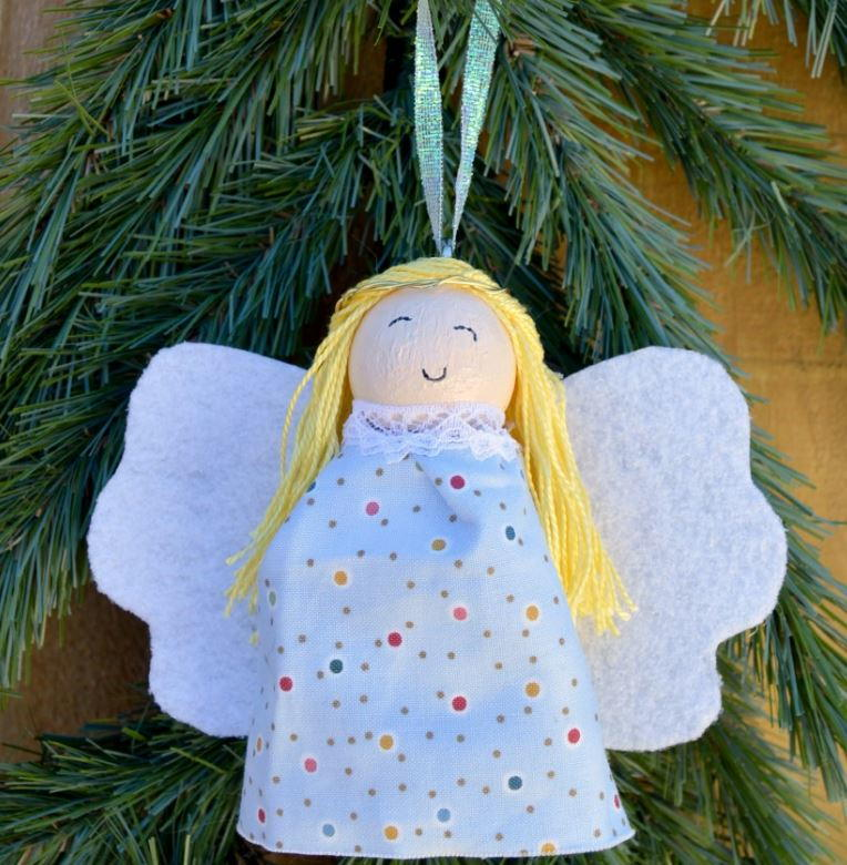 glowing angel diy ornament allfreechristmascrafts com