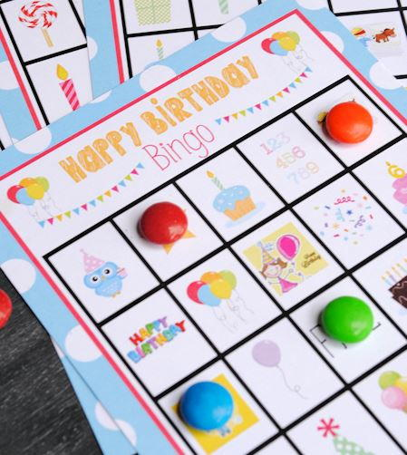 Free Printable Birthday Bingo Cards Allfreepapercrafts