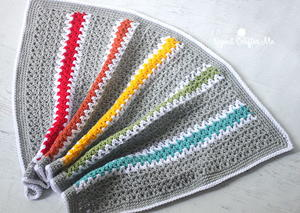 Quick and Easy Rainbow V-Stitch Babyghan