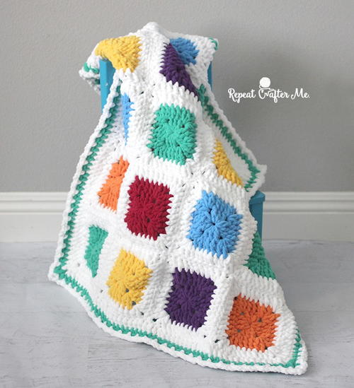 Bright And Bulky Crochet Baby Blanket Allfreecrochetafghanpatterns
