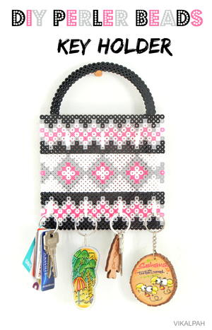 Key Holder Perler Bead Pattern | FaveCrafts.com