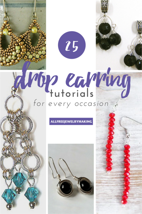25 Drop Earrings: How to Make Earrings for Any Occasion ...
