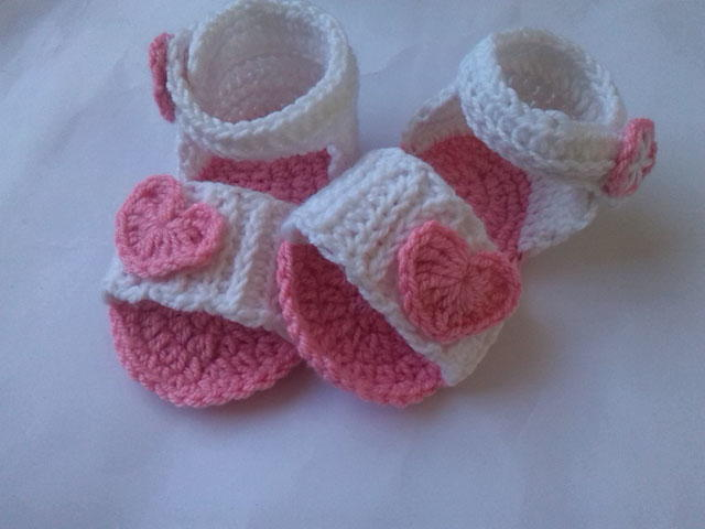 Crochet Pattern Baby Girl Sandals : Baby Sandal Crochet Pattern FaveCrafts.com