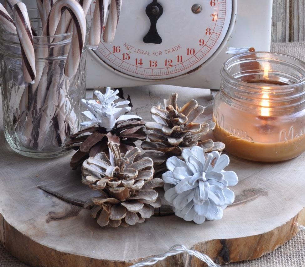 Bleached and Scented Pine Cone