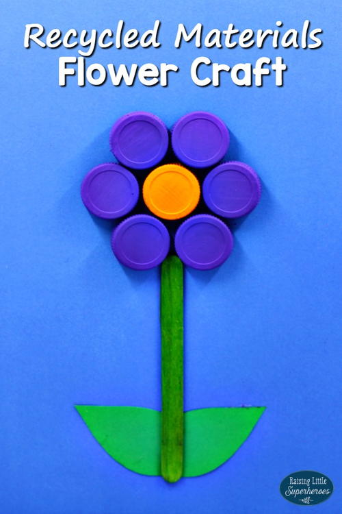 Flower Craft From Recycled Materials
