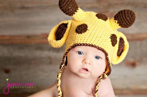 Giraffe Crochet Baby Hat Pattern Allfreecrochet