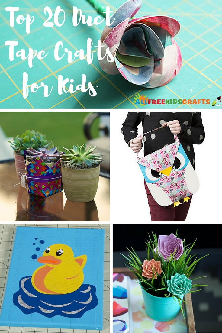 Duct Tape Craft Ideas For Kids Part - 24: Top 20 Duct Tape Crafts For Kids