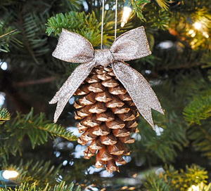 Gold Tipped Pinecone Ornament
