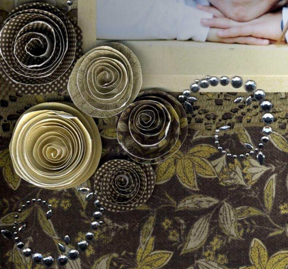 Simple Spiral Flowers Allfreepapercrafts