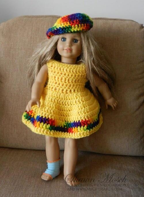 Crochet American Girl Doll Dress Favecrafts