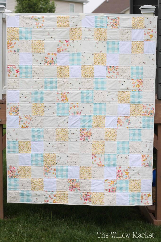 Sweet and Simple Squares Quilt Pattern FaveQuilts.com