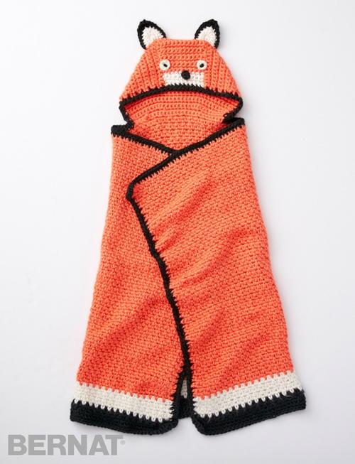 Like A Fox Hooded Baby Blanket Allfreecrochet