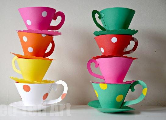 Alice Paper Tea Cups