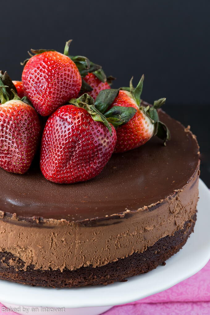 The Best Triple Chocolate Mousse Cake