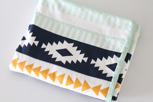 阿兹台克印花DIY婴儿毯