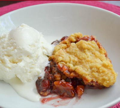 Never-Get-Dumped Slow Cooker Cherry Cake