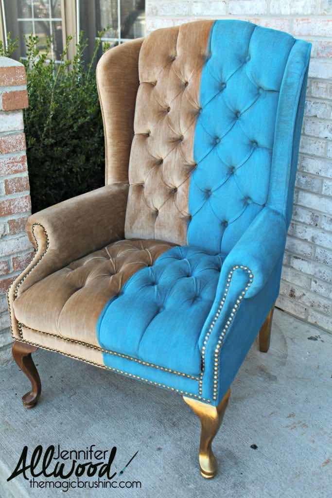 How To Paint Crushed Velvet Furniture Diyideacenter Com