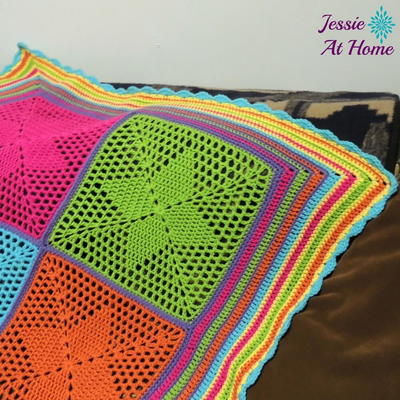 4-Points Star Crochet Blanket