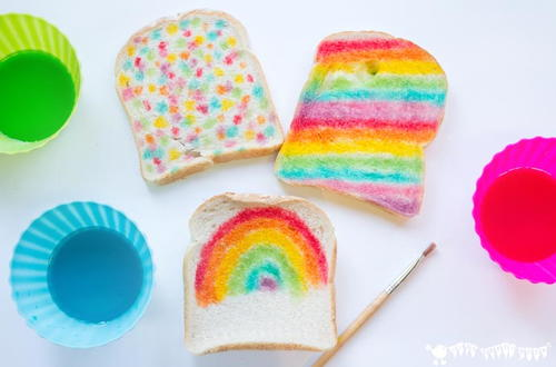 Edible Bread Painting Activity