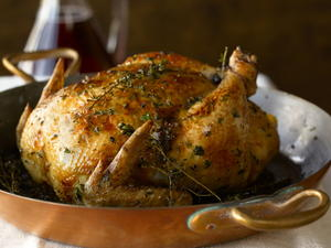 Roast Chicken Strewn with Thyme Branches