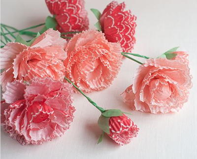 Pretty Paper Peonies from Cupcake Wrappers