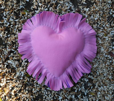 Fringed Heart Cushion
