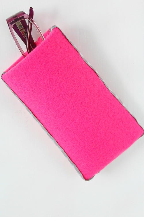 Eyeglass Case with Paper Tube and Fabric