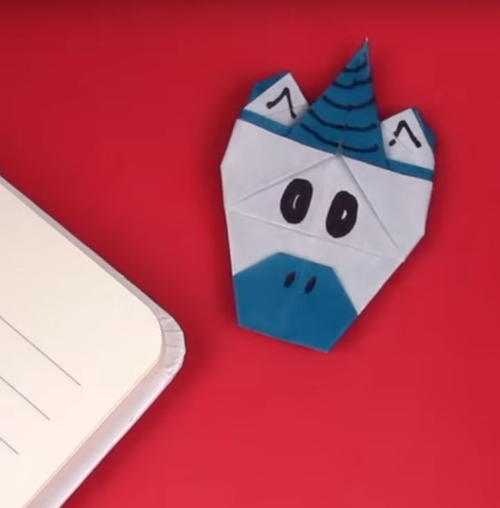 Origami unicorn corner bookmark allfreepapercrafts origami unicorn corner bookmark mightylinksfo