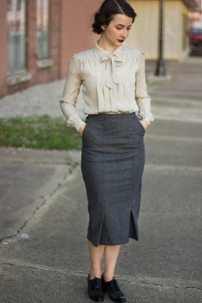 Peggy Carter-Inspired Upcycled Skirt