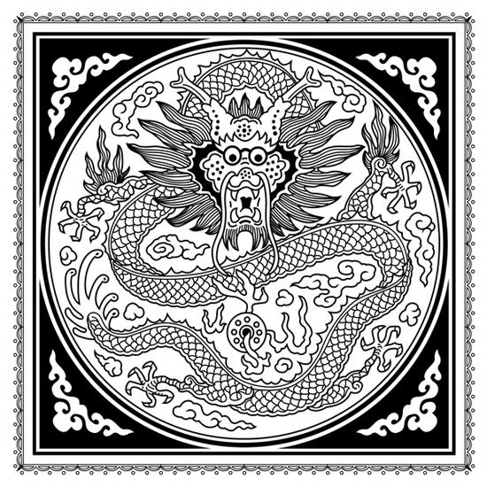 chinese dragon coloring page favecrafts com