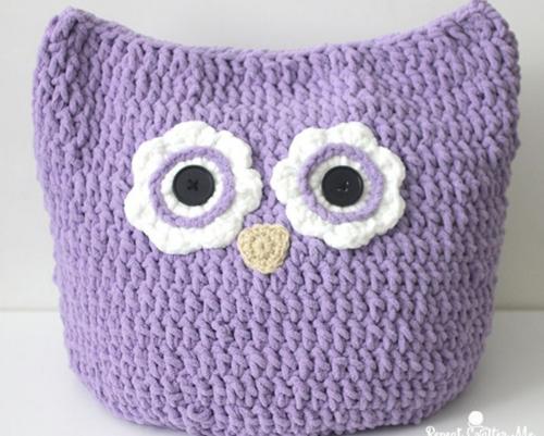Oversized Crochet Owl Pillow Allfreecrochet