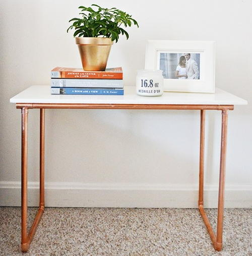 Marble and Copper DIY Side Table