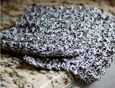 Grayscale Beginners Crochet Dishcloth