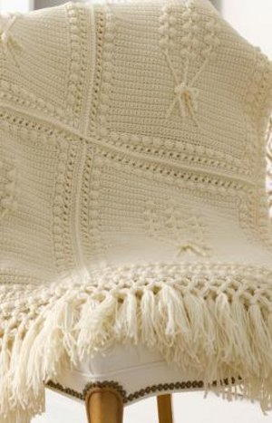 Aran Crochet Throw