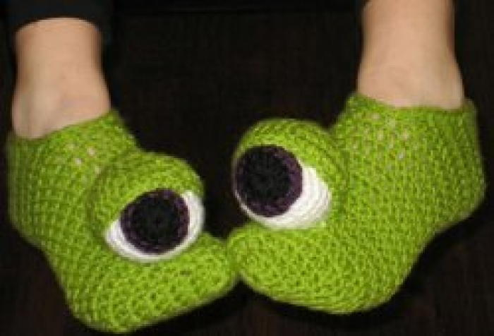 Crazy Monster Eyes Slippers Favecrafts