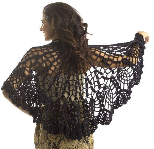 Pineapple Lace Shawl Crochet Pattern Favecrafts