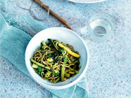 Soba Noodle Salad with Cucumber and Mango