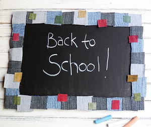 Denim Back-to-School Chalkboard