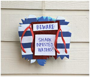Beware of Sharks DIY Wreath