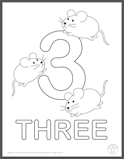 Learning Numbers Coloring Pages for Kids | AllFreePaperCrafts.com